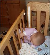 broken baby crib